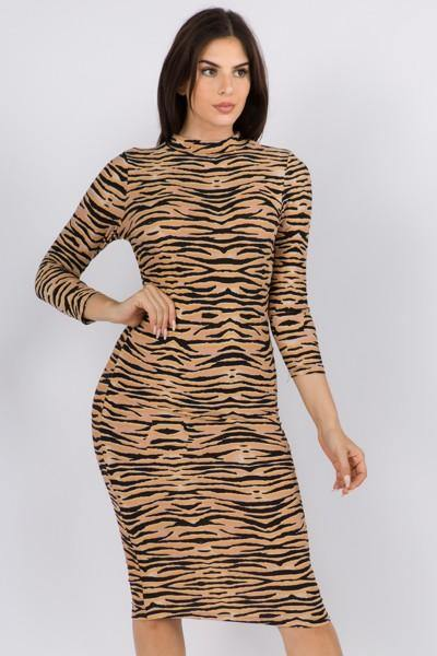 Tiger Bodycon Dress