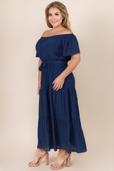 Papaya Plus Off The Shoulder Dress