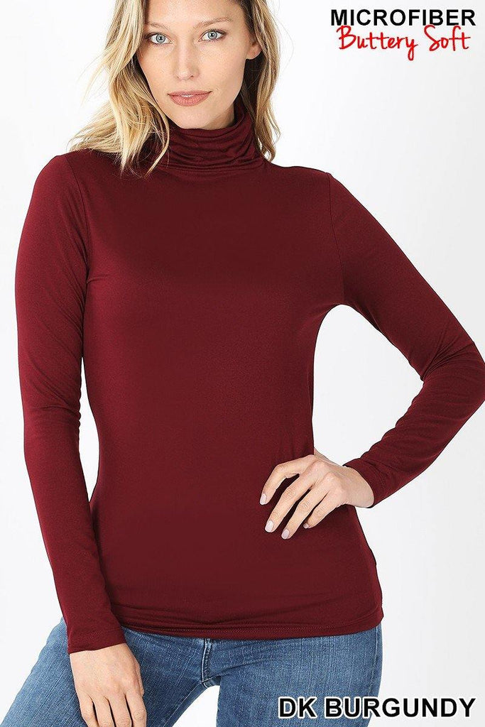 Burgundy Super Soft Mock Turtleneck