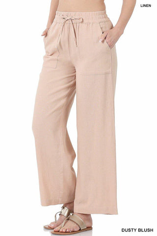 Linen Wide Legged Pants