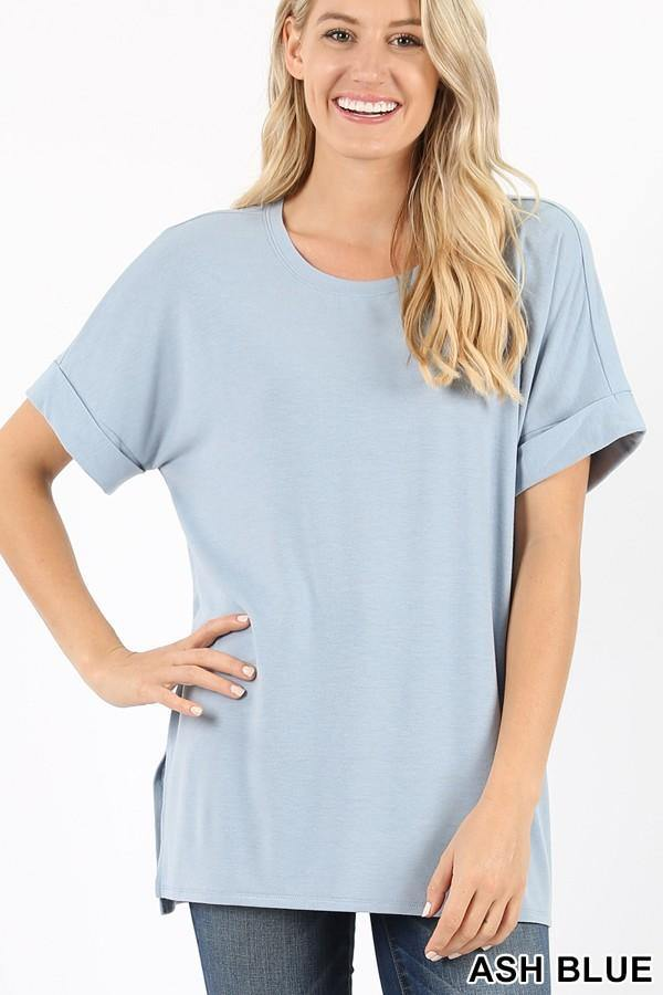 Basics Rolled Sleeve Top