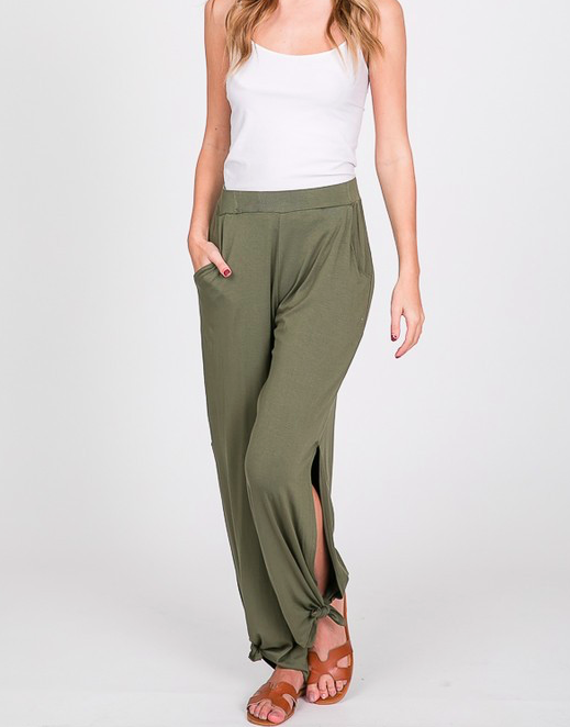 Let's Slit Pants, Olive