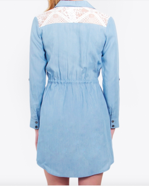 Sugarlips Tennessee Chambray Dress - FashionFunPop, Trendy, fashion, plus, skinny, fitted, ripped, dress, dresses, tops, blazers, women, clothing, bathing suits, swimwear, vacation, stylish, jewelry, accessories, handbags, shoes, boutique, shopping, store, clutch, clutches, handbag, blouses, mom, mommy, tee, tees, jeans,   pants, maxi, maxies, rompers, jumpers, sexy, clearance, new, sales, mika rose, she and sky, &, blvd, in style, esley, gilli, blu pepper, earrings, bracelets, bangles, statement, necklaces, scarfs, gloves, ripped, sweaters, bikini, tankini, one piece, stop staring, gowns, prom dresses, wedding dresses, wedding, prom