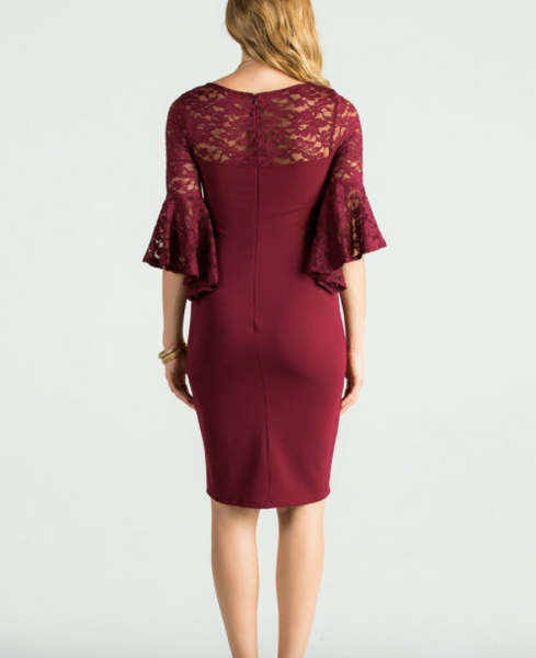 The Bell Dress - Burgundy
