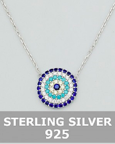 Sterling Silver Evil Eye Delicate Necklace