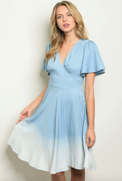 Denim Chambray Dress