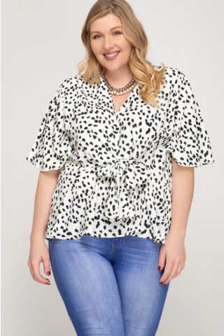 Cheetah Knot Top - Plus only!