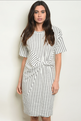 Striped Knot Dress