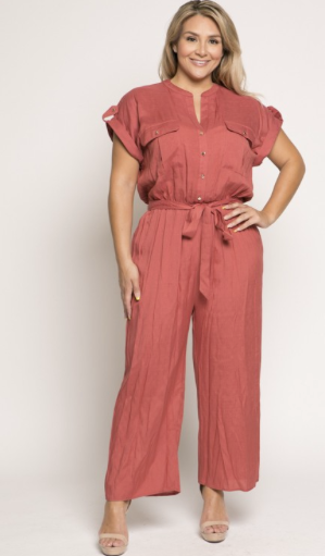 Cuffed Plus Jumpsuit