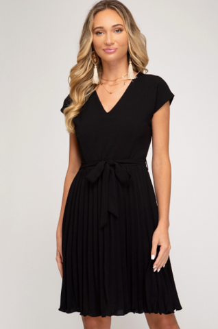 Touch of Class Pleated Dress