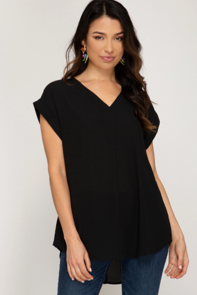 V Drop Blouse Top