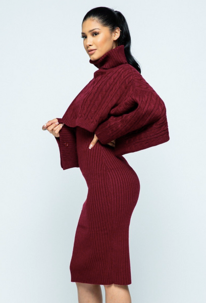 Two piece Sweater Dress Set