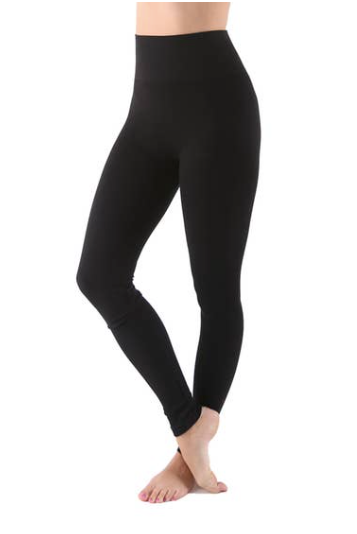 Tummy Tuck Solid Leggings - Gray