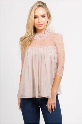 Romantic Pearl Top