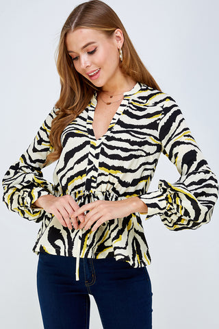Bubble Zebra Top