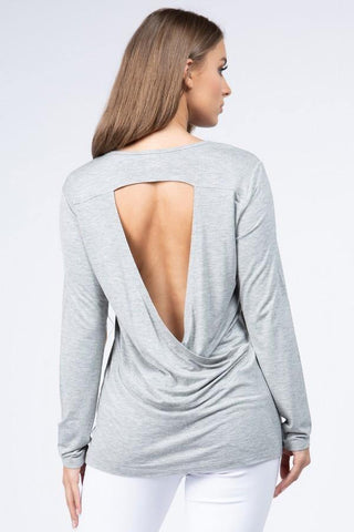 Lets Layer Top - Heather Gray