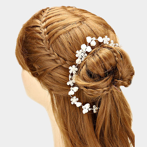 Bridal Crystal Rhinestone Bun Wrap Hair Pin FashionFunPop