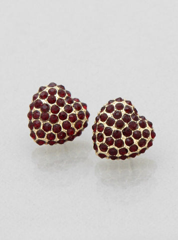 Rhinestone Pave Heart Stud Earrings - FashionFunPop, Trendy, fashion, plus, skinny, fitted, ripped, dress, dresses, tops, blazers, women, clothing, bathing suits, swimwear, vacation, stylish, jewelry, accessories, handbags, shoes, boutique, shopping, store, clutch, clutches, handbag, blouses, mom, mommy, tee, tees, jeans,   pants, maxi, maxies, rompers, jumpers, sexy, clearance, new, sales, mika rose, she and sky, &, blvd, in style, esley, gilli, blu pepper, earrings, bracelets, bangles, statement, necklaces, scarfs, gloves, ripped, sweaters, bikini, tankini, one piece, stop staring, gowns, prom dresses, wedding dresses, wedding, prom