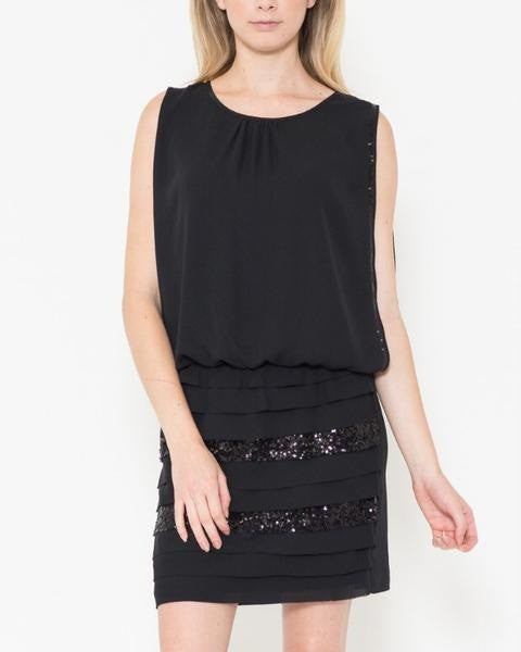 Esley Contrast Little Black Dress - FashionFunPop, Trendy, fashion, plus, skinny, fitted, ripped, dress, dresses, tops, blazers, women, clothing, bathing suits, swimwear, vacation, stylish, jewelry, accessories, handbags, shoes, boutique, shopping, store, clutch, clutches, handbag, blouses, mom, mommy, tee, tees, jeans,   pants, maxi, maxies, rompers, jumpers, sexy, clearance, new, sales, mika rose, she and sky, &, blvd, in style, esley, gilli, blu pepper, earrings, bracelets, bangles, statement, necklaces, scarfs, gloves, ripped, sweaters, bikini, tankini, one piece, stop staring, gowns, prom dresses, wedding dresses, wedding, prom
