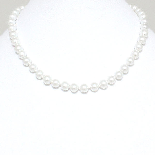 Pearl Necklaces - White - FashionFunPop, Trendy, fashion, plus, skinny, fitted, ripped, dress, dresses, tops, blazers, women, clothing, bathing suits, swimwear, vacation, stylish, jewelry, accessories, handbags, shoes, boutique, shopping, store, clutch, clutches, handbag, blouses, mom, mommy, tee, tees, jeans,   pants, maxi, maxies, rompers, jumpers, sexy, clearance, new, sales, mika rose, she and sky, &, blvd, in style, esley, gilli, blu pepper, earrings, bracelets, bangles, statement, necklaces, scarfs, gloves, ripped, sweaters, bikini, tankini, one piece, stop staring, gowns, prom dresses, wedding dresses, wedding, prom