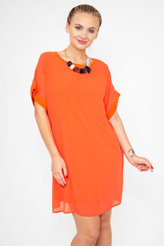 Orange Swag Dress