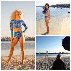 Swimwear photoshoot behind the scenes image