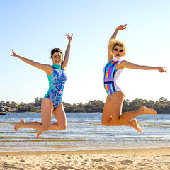 Women's colourful swimsuit