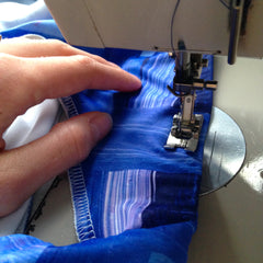 Sewing in the Anna Carla Studio Behind the scenes