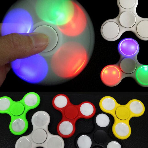 LED Plastic Fidget Spinner (Assorted Colors)