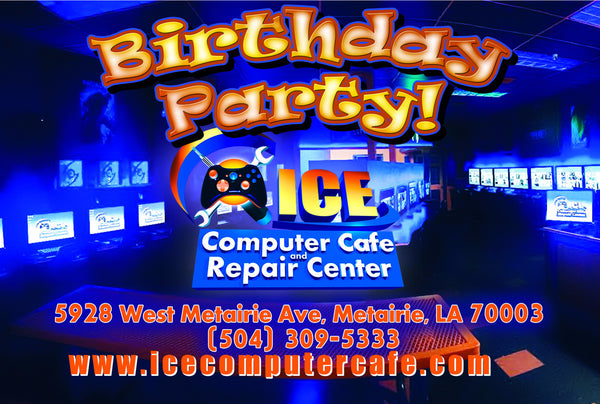 2 Hour Gaming Birthday Party