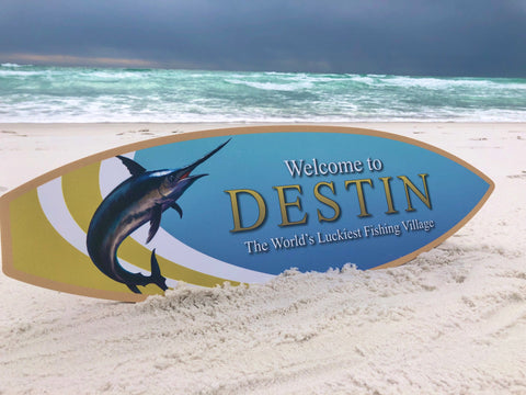 Destin Florida Sign - Surfboard
