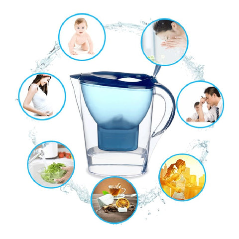 2.5L Water Filter Kettle Household Drink Alkaline Water Pitcher Jug Bottle  Water Purifier