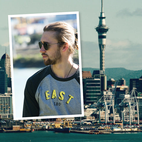 east 180 raglan sleeve tee | cotton tees | New Zealand
