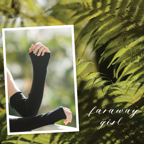 merino blend fingerless gloves | faraway NZ | buy online