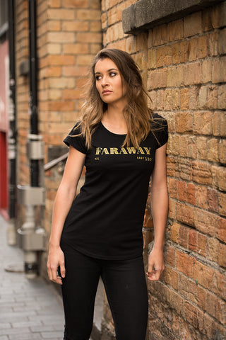 faraway black women's tee | New Zealand designer tee shirts online