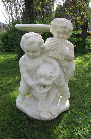 Faraway Garden Cupids with Fish Finial