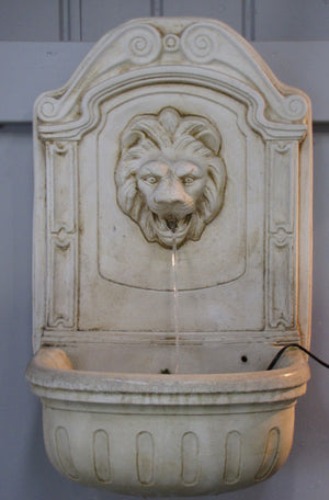 Faraway Garden Wall Fountain with Lion