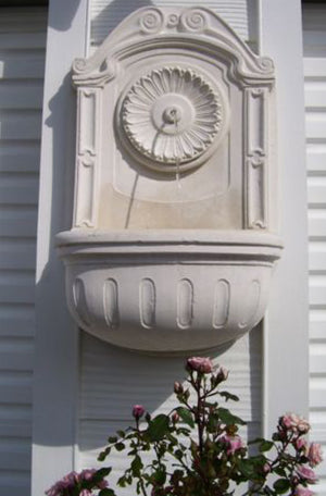 Faraway Garden Wall Fountain with Rosette