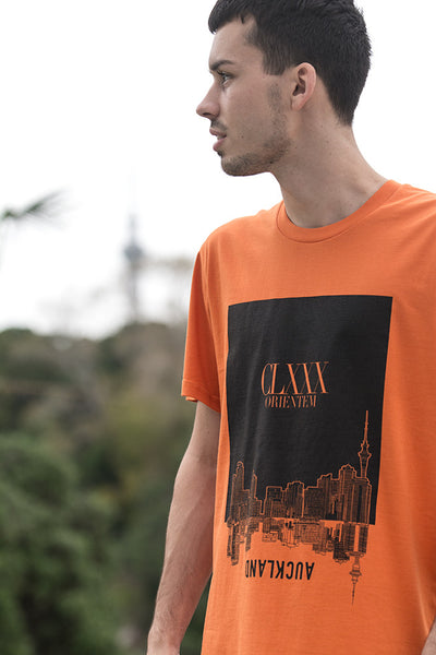 NZ Auckland souvenir tshirt orange tee