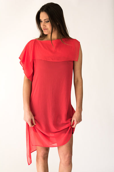NZ Auckland womens dress red