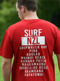 Surf NZL 100% cotton red tee