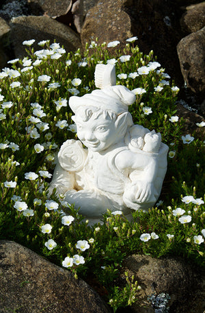 The Faraway Garden Tooth Fairy is a smaller garden statue of a little fairy character with toothbrush and 20c. It looks wonderful nestled in an herbaceous border or in a kitchen garden. The perfect gift for a child to treasure.