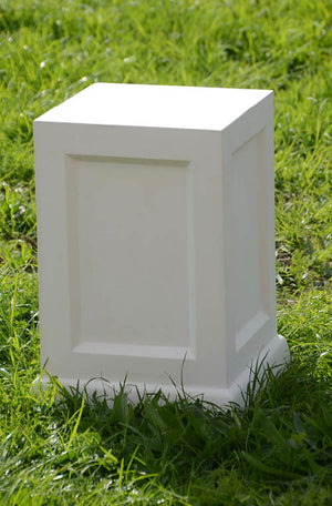 The Faraway Garden Tarrant Pedestal follows the classic proportions and fielded panel shaft of the Regency period. A pair of stunning plinths flanking both sides of your garden entrance makes a refined and elegant statement. Top with one of our statues or a planter to complete the look.