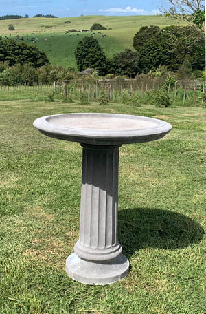 This impressively, elegant bird bath with its doric column pedestal and generous bowl is a beautiful showpiece in any garden setting; from a more formal rose garden, at the end of the lawn; to a position nestled in a rambling herbaceous border.