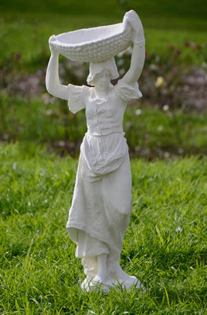 The Faraway Garden Violette is a graceful garden statue depicting a Romani girl of Paris, a popular character featured in artworks and literature of the Romantic movement of the mid 1800s. She works wonderfully as a statue raised on a pedestal in a formal flower bed, a rose garden or nestled in an herbaceous border.