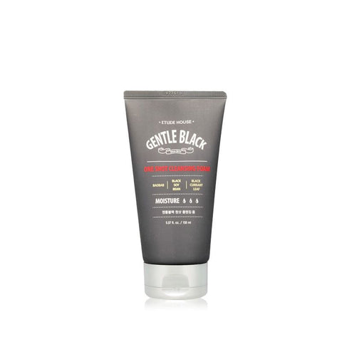 Etude House Gentle Black One Shot Cleansing Foam