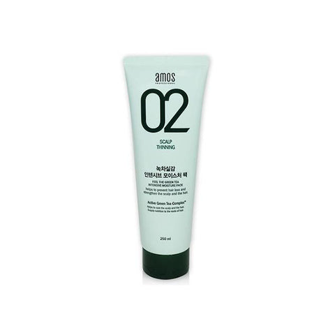 AMOS 02 Scalp Thinning The Green Tea Intensive Moisture Pack 250ml