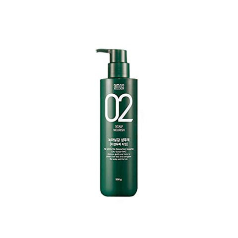 AMOS 02 Scalp Thinning The Green Tea Shampoo for OILY Scalp 500g