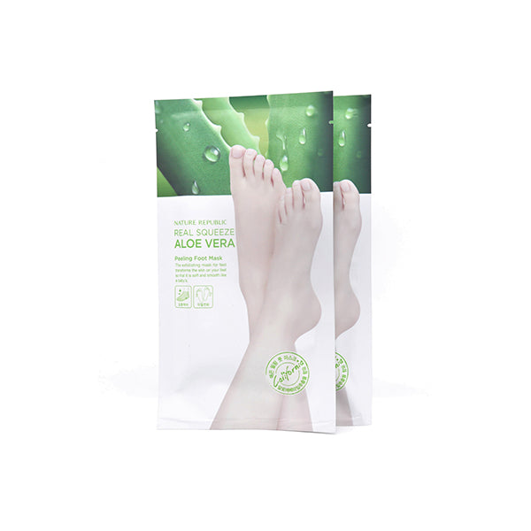 Nature Republic Real Squeeze Aloe Vera Peeling Foot Mask (1 pair)