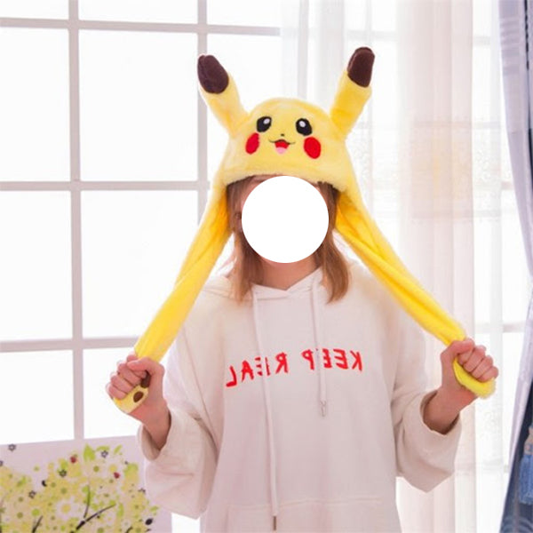 Plush Moving Ear Pikkachu Hat(Easter Special)